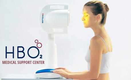 Антиейдж терапия на лице и околоочен контур с медицинска светлинна терапия Bioptron плюс UV защитен ефект