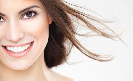 Дентален преглед, плюс почистване на зъбен камък или фотополимерна пломба, или избелване на зъби