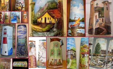 Рисуване върху керемида или кратунка на 30 Септември