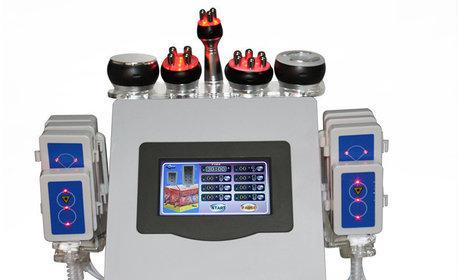 Ултразвукова кавитация и RF лифтинг, плюс вакуумен или лимфодренажен масаж на две зони по избор