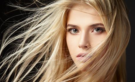 Боядисване на корени на коса с професионални продукти, плюс терапия за боядисана коса