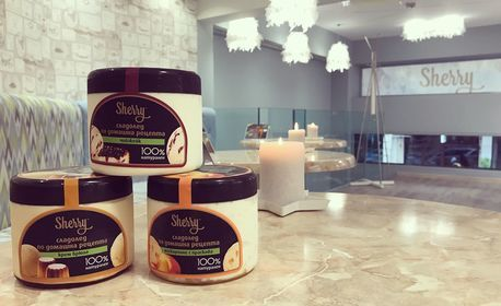 Мелба с 3 вида сладолед по избор, плюс кафе или капучино LavAzza