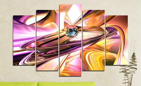 Декоративно пано от 5 части, с размер и изображение по избор