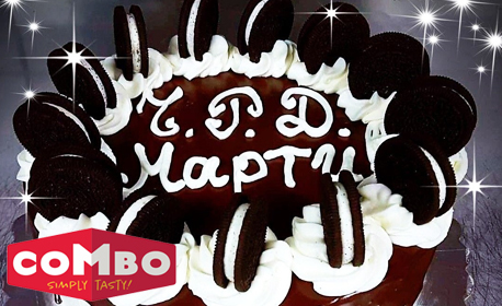 Цяла торта по избор - еклерова или с бисквитки Орео