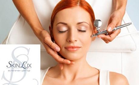 Кислороден пилинг и мезотерапия за лице с професионална немска козметика Janssen