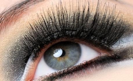 """Удължаване и сгъстяване на мигли - по метода """"косъм по косъм"""" или обемна техника 3D - 6D"""