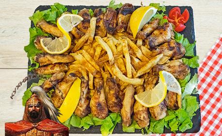 Куверт за 10 човека с меню от салата и основно ястие, по избор