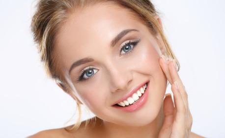 Хигиенно-козметичен масаж на лице, шия и деколте, плюс ампула с колаген или хиалуронова киселина