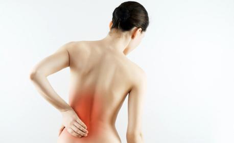 Болкоуспокояващ масаж на гръб с магнезиев гел
