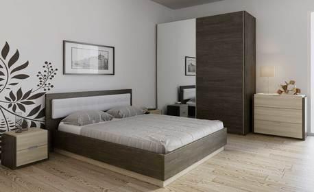 """Спално обзавеждане """"Берта"""" с легло, гардероб, 2 нощни шкафчета и възможност за скрин"""