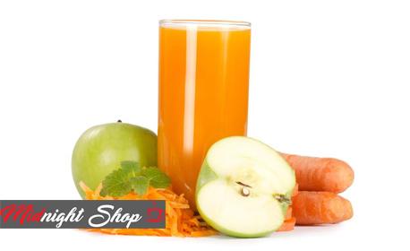 Половин литър фреш от ябълка и морков