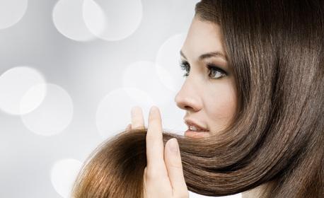 Красива коса! Подстригване и оформяне, плюс ампула против косопад или маска за възстановяване