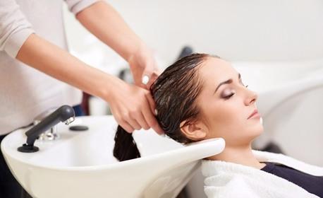 Прекрасна коса! Измиване, подстригване, маска и ампула с арган, или възстановяваща терапия с кератин и топла преса