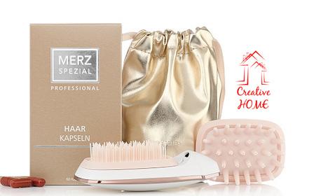 Йонизираща четка за коса Philips Ionic Brush HP4676, плюс хранителна добавка Merz за коса