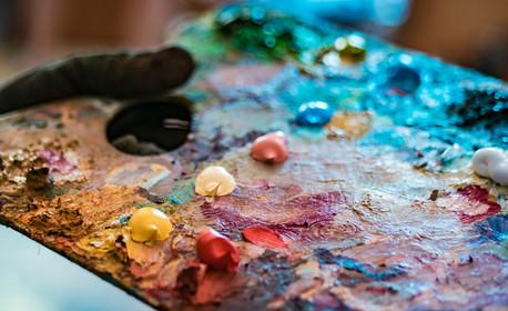 """Уъркшоп по рисуване с маслени бои и шпатули на картина """"Отражение"""" на 12 Ноември, плюс чаша вино"""