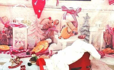Коледна фотосесия в студио със специално изградени декори, с неограничен брой обработени кадри