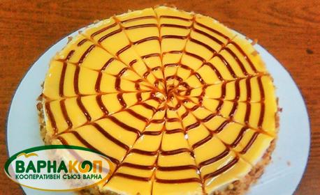 """Торта """"Брюле с банани"""" или еклерова торта с какаов крем"""