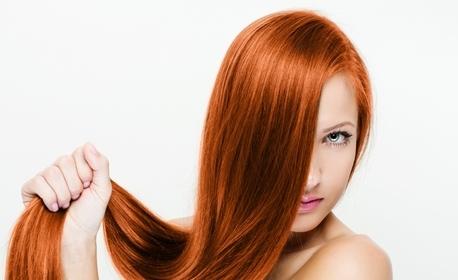 За косата! Подстригване, терапия с инфраред преса или боядисване с боя на клиента, плюс масажно измиване, маска и оформяне