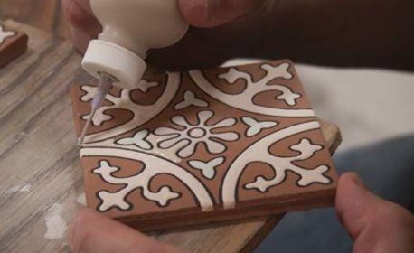3 часа рисуване върху керамична плоча - на 22 Ноември