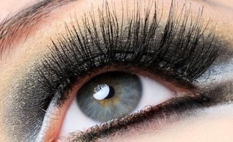Полиране на коса с полировчик - без или със оформяне на плитка, плюс поставяне на мигли