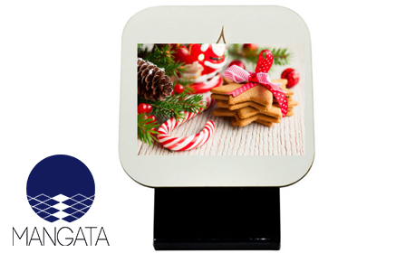 Стилен подарък за Коледа! Сублимационен часовник с поставка и снимка на клиента