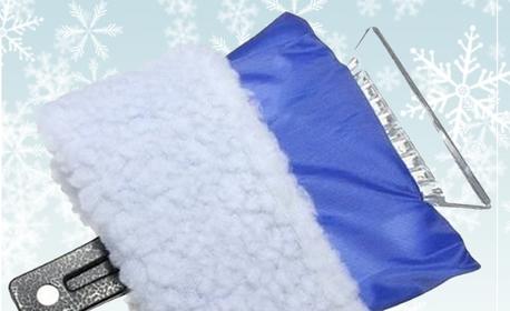 Зимен комплект за автомобил - вериги, стъргалка за лед с ръкавица, течност за чистачки и спрей за размразяване
