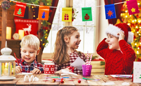 90 минути коледна арт работилница за деца от 6 до 11г - 1, 4 или 8 посещения