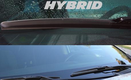 Автомобилна чистачка с хибридна технология и аеродинамичен дизайн