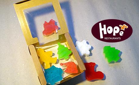 3 броя глицеринови ръчно направени сапуни с коледни фигурки Hope Soap