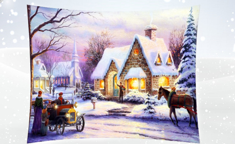 Стилен подарък! Коледна калъфка, декоративна възглавничка или одеяло - със снимка на клиента или дизайн по избор