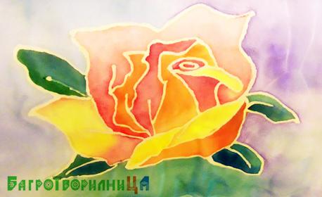 3 часа рисуване върху копринен шал, плюс чаша червено вино