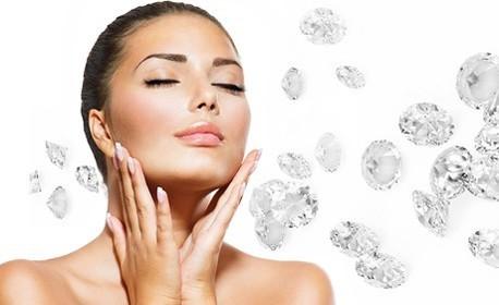 Диамантено микродермабразио на лице, нанасяне на маска и ампула, плюс бонус - оформяне на вежди