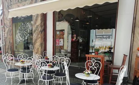 Кафе Cagliari и фреш от портокал, плюс торта по избор