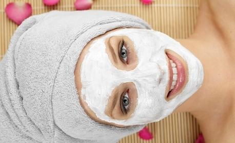 Масаж на лице, шия и деколте, плюс маска по избор