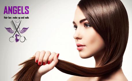 Луксозна терапия за коса - с мляко на Milk Shake или протеинова терапия с ампула, плюс подстригване на връхчета и сешоар