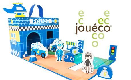 Празнична изненада за малчугана! Полицейско управление с дървени фигурки, Jouéco в 13 части