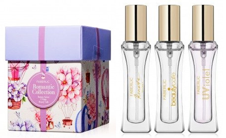 Подаръчен комплект-миниатюр за жени Romantic Collection: 3 флакона парфюми по 7мл