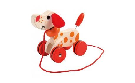 Подарък за малчугана! Дървено кученце Jouéco