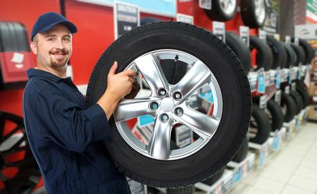 Смяна на 2 броя гуми на лек автомобил