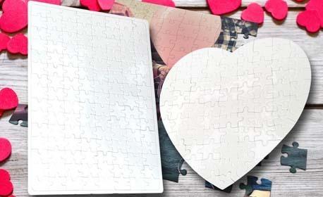 Оригинален подарък! Пъзел във формата на сърце или правоъгълен, или грамота с дизайн по избор