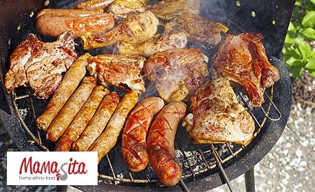 1.3кг сръбска скара на дървени въглища и пържени картофи
