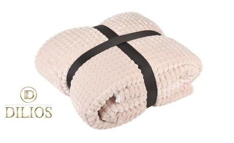 """Одеяло """"Пирамиди"""" от 100% полиестер - в сив цвят или екрю"""