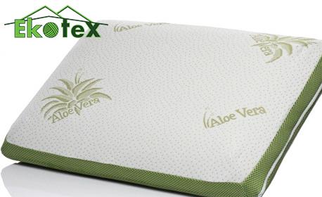 Ортопедична възглавница с мемори пяна Sleepmode Aloe Vera Wellness