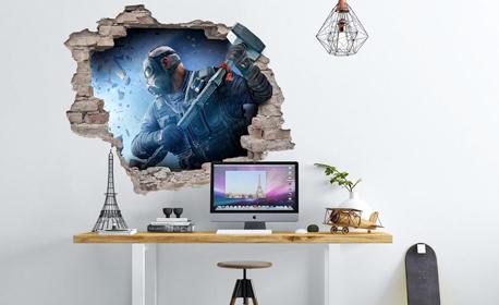 Декорация за детската стая! 3D стикер за стена с дизайн по избор