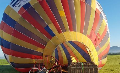 Панорамно издигане с балон край София, плюс бонус - видеозаснемане