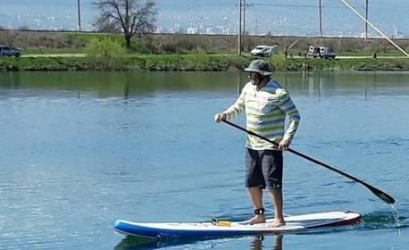 За любителите на водните спортове! 60-минутен урок - по Wakeboard или SUP с инструктор или наем на SUP за 4 часа
