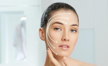 Безиглена мезотерапия на лице с хиалуронов гел - 3 процедури