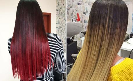 Ламиниране на коса с инфраред преса и кератинова терапия Selective, плюс изправяне