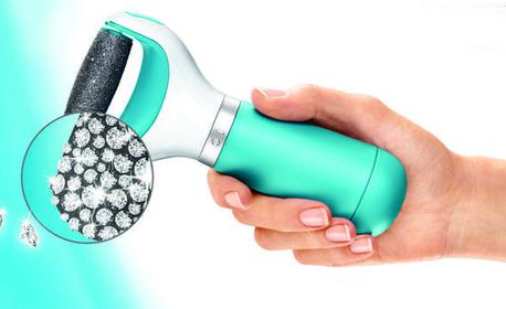 Автоматична пила за стъпала с диамантени кристали или 2 броя резервни ролкови глави за нея