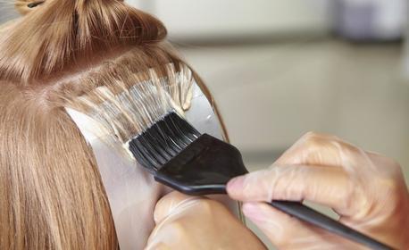 За красива коса! Кичури с фолио, плюс матиране по избор и оформяне на прическа